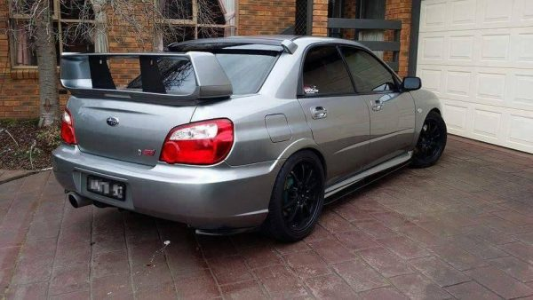 2003 2007 Sti Ht Autos Sideskirt Extensions And Rear Pod